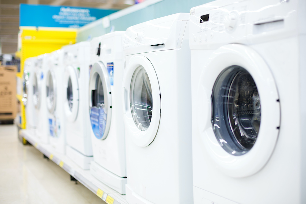 Sales of washing machines in the store